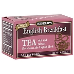 BIGELOW ENGLISH BREAKFAST TEA PINK BOX (28CT)