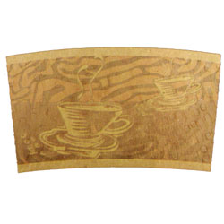 SERENITY HOT CUP SLEEVES 4OZ  6/50CT