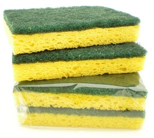 SPONGE SCRUBBER YELLOW 5/PACK