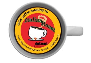 ORGANICALLY-GROWN ITALIAN ROAST PODS 18CT