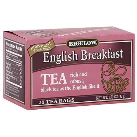 Bigelow English Breakfast Tea Pink Box 20ct