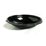 PLASTIC BOWLS BLACK 12OZ 125CT