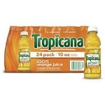 TROPICANA ORANGE JUICE 10OZ BOTTLES 24CT