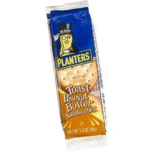 PLANTER'S TOASTED PEANUT BUTTER CRACKERS 120 CT